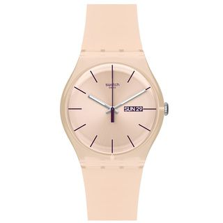 Swatch Women's Originals SUOT700 Pink Plastic Quartz Watch with Pink Dial | Overstock.com Shopping - Big Discounts on Swatch Women's Swatch Watches