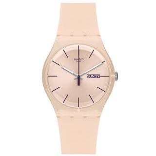 Swatch Women's Originals SUOT700 Pink Plastic Quartz Watch with Pink Dial | Overstock.com Shopping - Big Discounts on Swatch Women's Swatch Watches