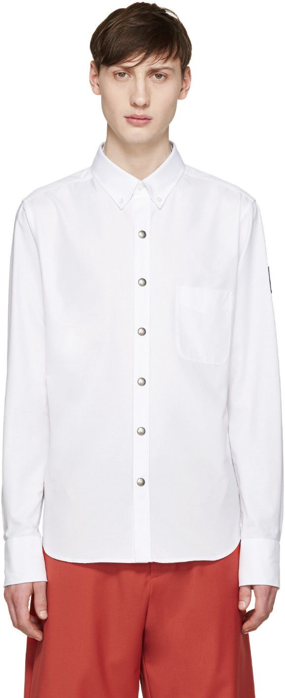 Moncler Gamme Bleu - White Oxford Shirt