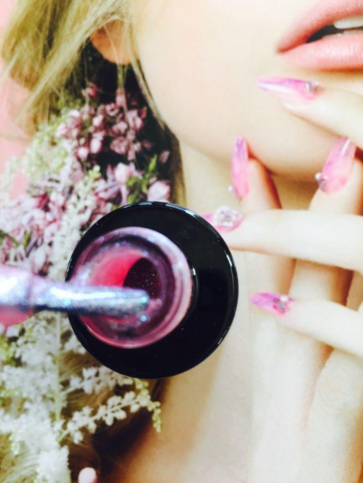 Semilac 164 pink crystals