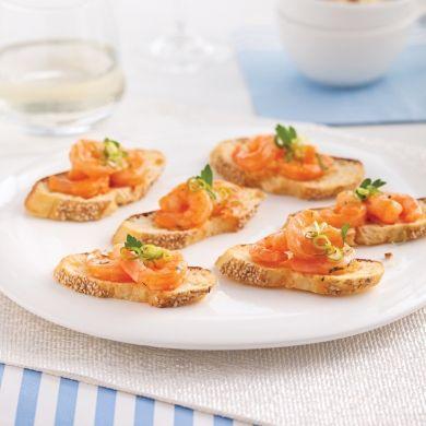 Crostinis aux crevettes - Recettes - Cuisine et nutrition - Pratico Pratique