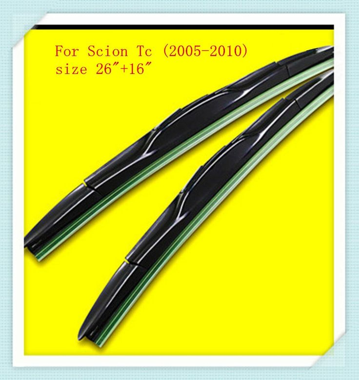 """3 Section Rubber Windscreen Wipers For Scion Tc (2005-2010),size 26""""+16"""""""