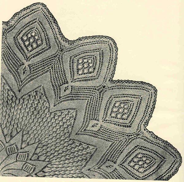 Скатерть 5. Э.Критеску 'Художественное вязание спицами'