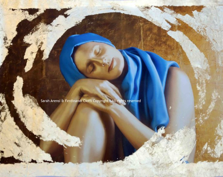 """Surrender"" from Virtues series   FotoPainting on canvas 125x95 cm   Sarah Arensi&Ferdinando Cioffi 2013"