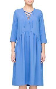 Платье голубое на шнуровке для беременных Trends Brands Base