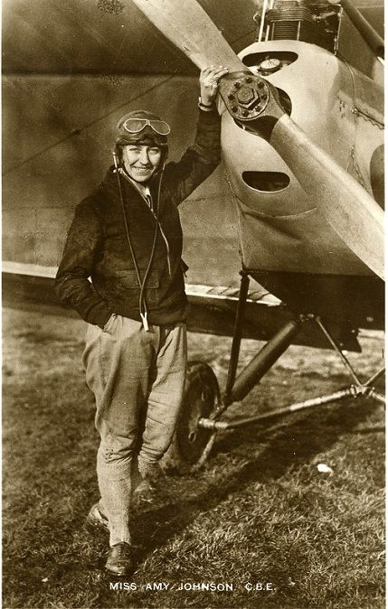 English aviator Amy Johnson who set numerous long-distance records during the 1930's and flew in the Second World War as part of the Air Transport Auxiliary.