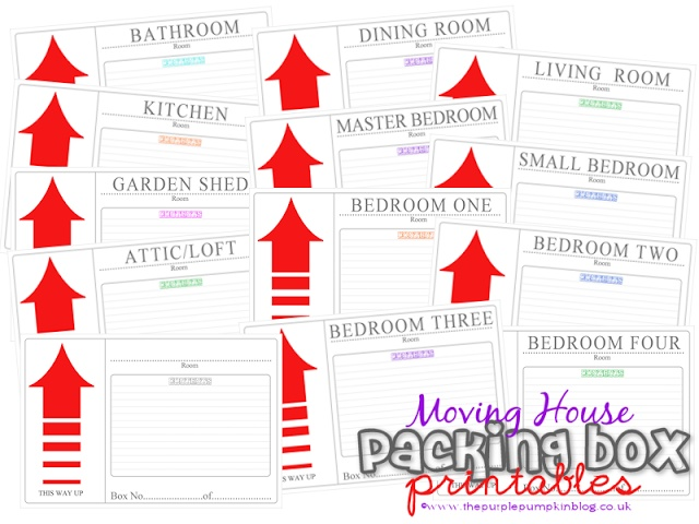 Moving House Packing Box Label Printables. They helped me keep organized during my move!  Repineed by www.movinghelpcenter.com Follow us on Facebook!