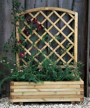Smaller patios need a little love too and with this Forest Garden Toulouse Wooden Trellis Trough Planter you can grow wonderful climbing plants for a wall of colour throughout the year. Go on, brighten your outdoor space today!