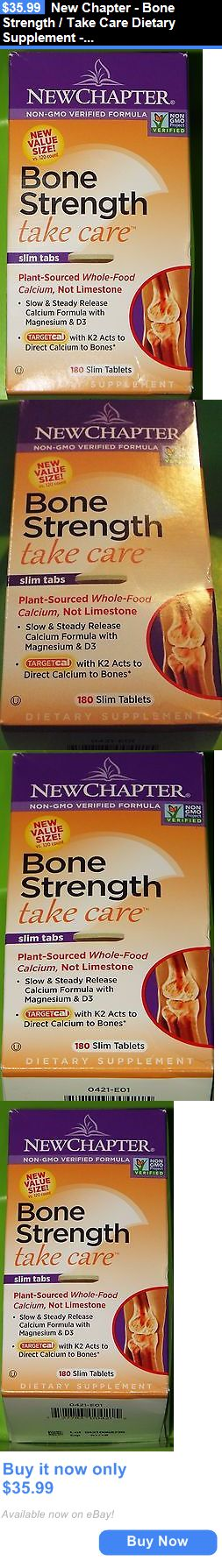 Health And Fitness: New Chapter - Bone Strength / Take Care Dietary Supplement - 180 Slim Tablets BUY IT NOW ONLY: $35.99