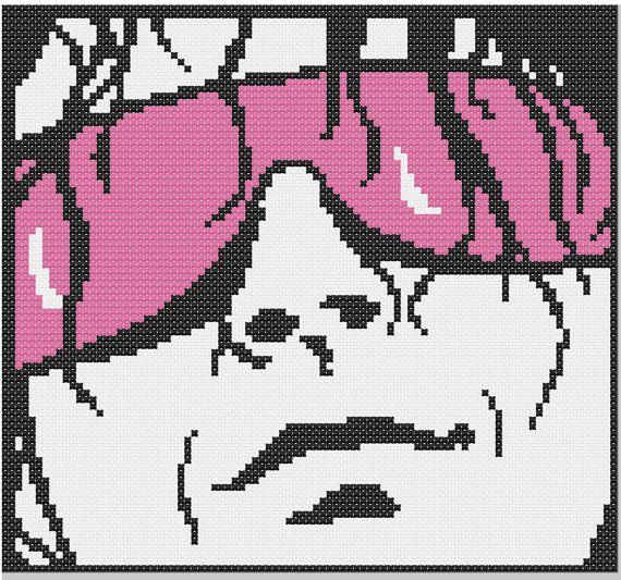 Bret The Hitman Hart Cross Stitch PDF Pattern on Etsy, $3.00