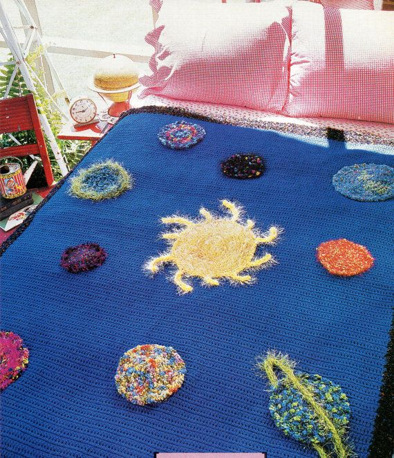 Solar system afghan crochet pattern outer space planets for Outer space pattern