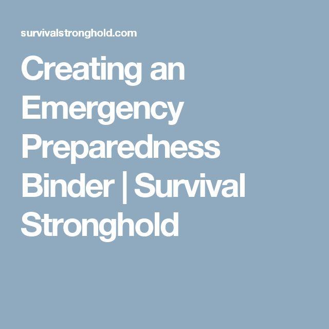 Creating an Emergency Preparedness Binder | Survival Stronghold
