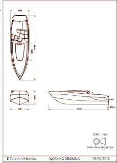 JD Boat Design: Orthographic drawings