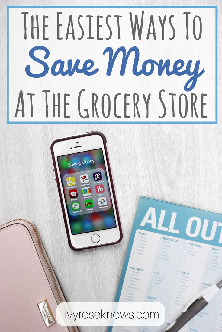 saving money at the grocery store. apps to save you money grocery shopping.