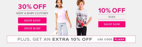 Hudsons Bay Canada Flash Sale: Save 30% Off Kids and Baby Clothing and 10% Off Toys  Extra 10% Off Promo Code http://www.lavahotdeals.com/ca/cheap/hudsons-bay-canada-flash-sale-save-30-kids/178944?utm_source=pinterest&utm_medium=rss&utm_campaign=at_lavahotdeals