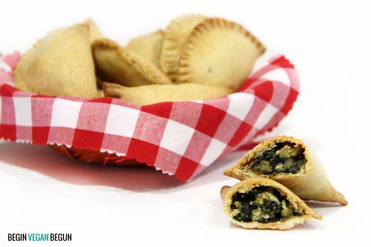 Empanadillas veganas de espinacas y pera #vegan #veganrecipes