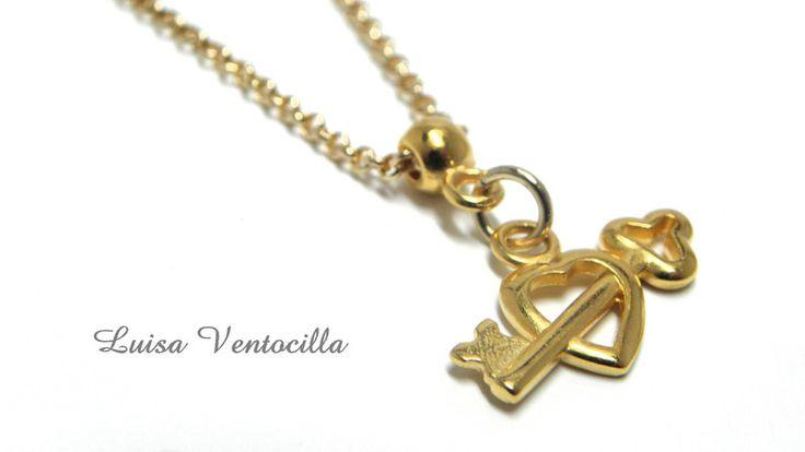 Zarte vergoldete Halskette mit Herz  von Luisa Ventocilla Shop auf DaWanda.com
