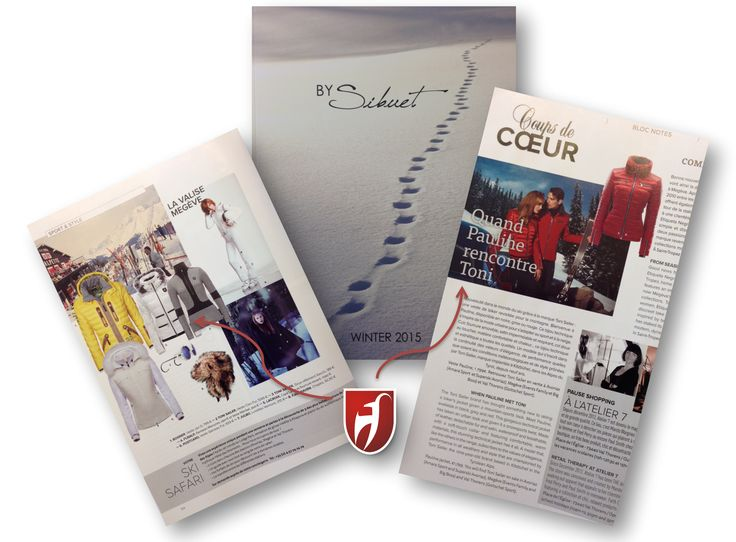 #tonisailer #skijacket Cleo in Sibuet magazine from France
