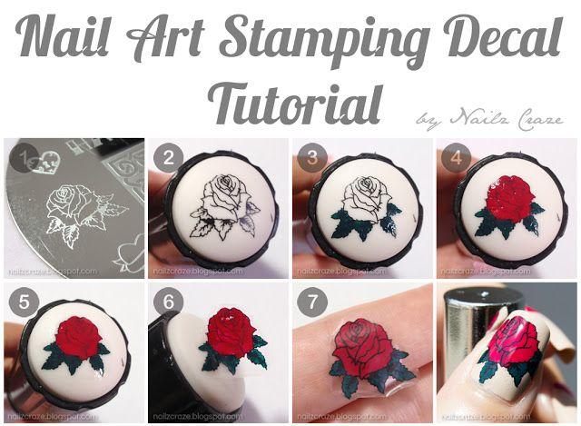 Nailz Craze: Nail Art Stamping Decal Tutorial #nail #nails #nailart