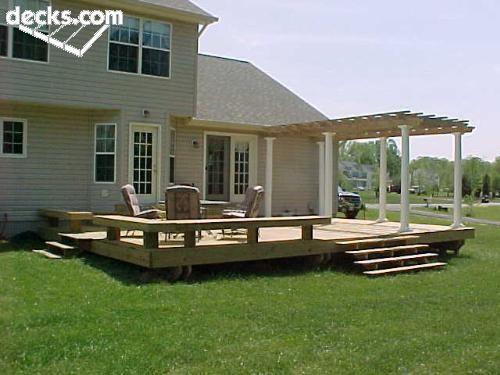 25 best ideas about low deck on pinterest backyard for Low elevation deck plans