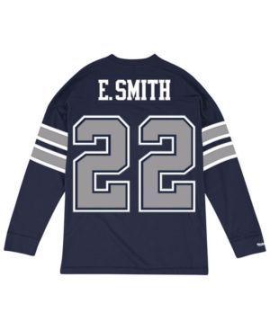 Mitchell & Ness Men's Emmitt Smith Dallas Cowboys Retro Player Name & Numer Longsleeve T-Shirt - Navy/Silver X https://www.fanprint.com/stores/american-dad?ref=5750 https://www.fanprint.com/stores/american-dad?ref=5750
