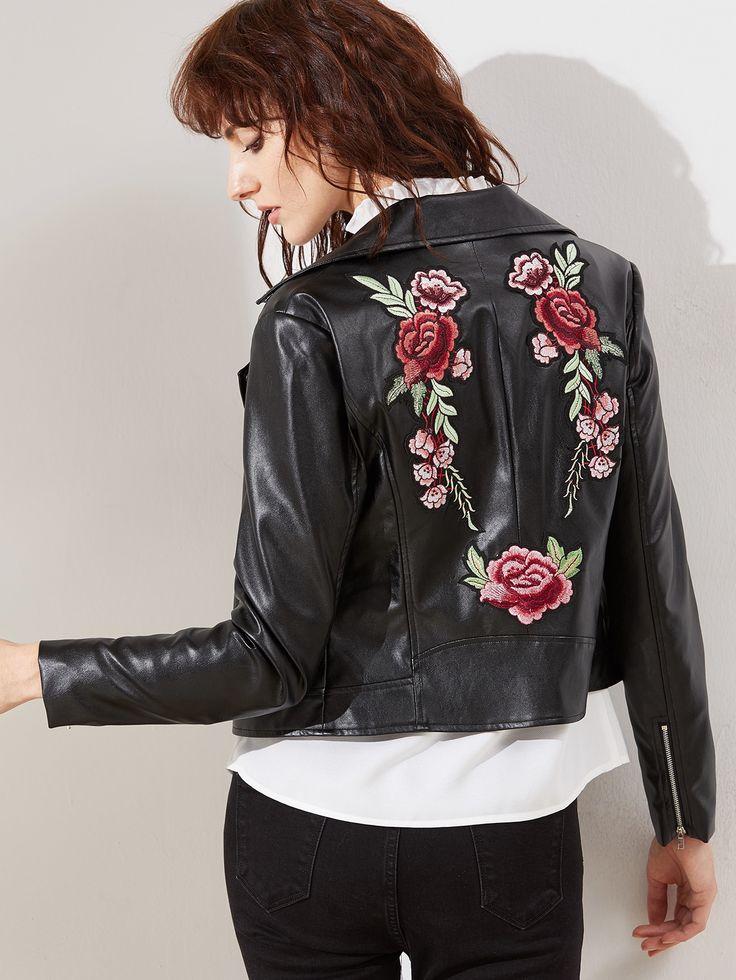 17 meilleures id es propos de veste simili cuir femme. Black Bedroom Furniture Sets. Home Design Ideas