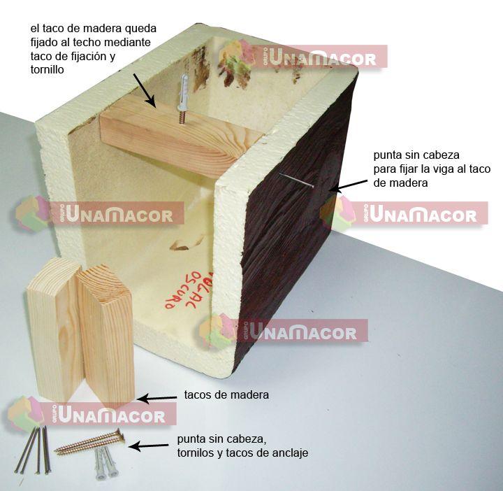 Vigas rústicas de poliuretano imitación a madera (Actualizado)