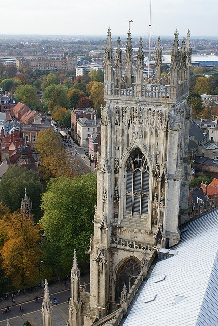 York minster cathedral, York. Climbed to the top of the York Minster.