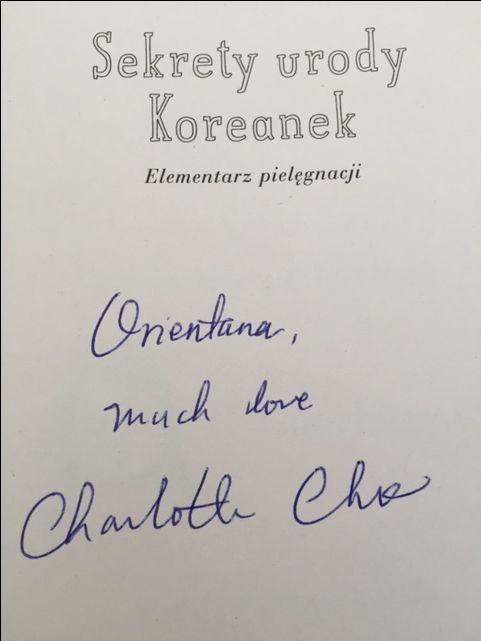 Specjalnie od Charlotte Cho dla Orientany <3