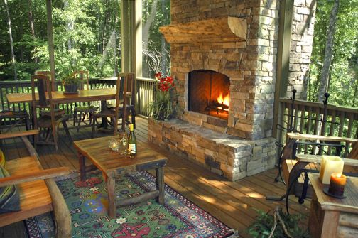 This is my dream patio.Ideas, Fireplaces Design, Screens Porches, Dreams, Outdoor Living, Outdoor Room, House, Outdoor Fireplaces, Timber Frames
