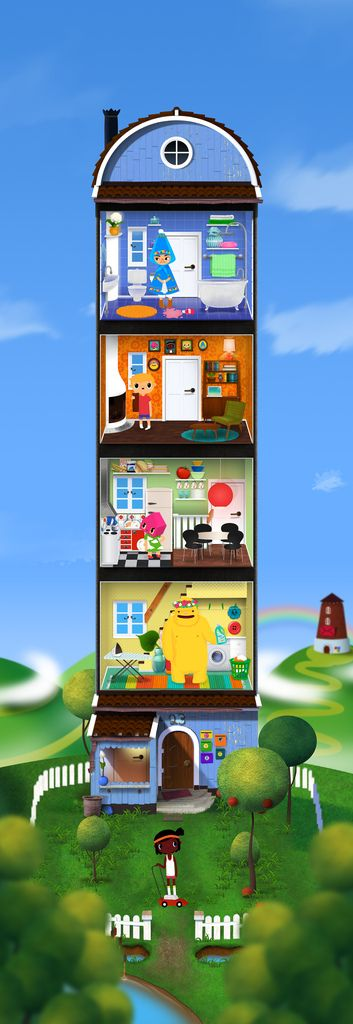 The house in Toca House by Toca Boca. http://itunes.apple.com/us/app/toca-house/id495680460?mt=8 #apps #kids #children #ipad #iphone