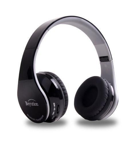 Beyution V4.1 Bluetooth Wireless Foldable Hi-fi Stereo Headphone for Smart Phones & Tablets - Black