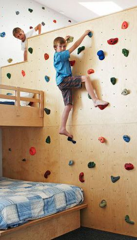 Climbing wall.... Yes cause I would want my kids breaking their neck .....lol
