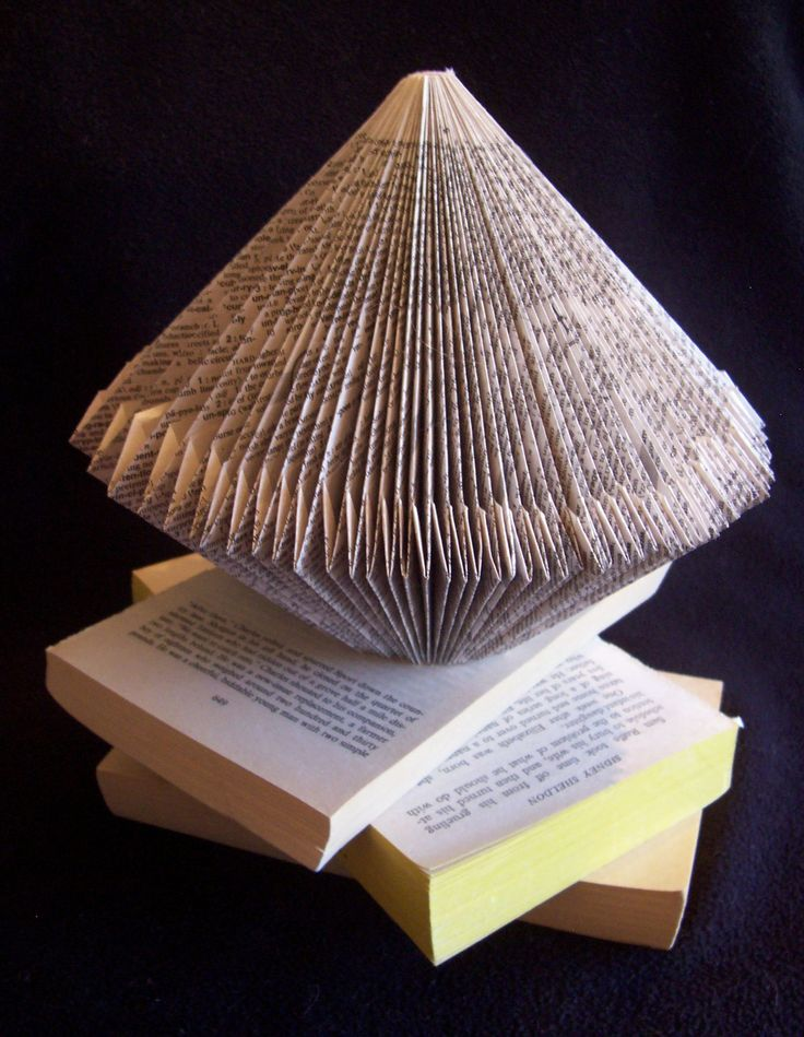 recycled book folding instructions