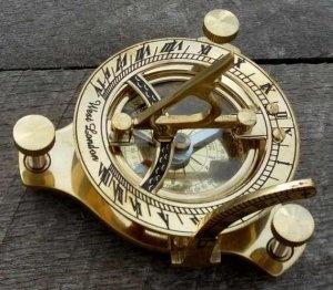 Brass Compass, Sun Dial, Solar Time, Astrology, Navigation, Maritime or just cool!