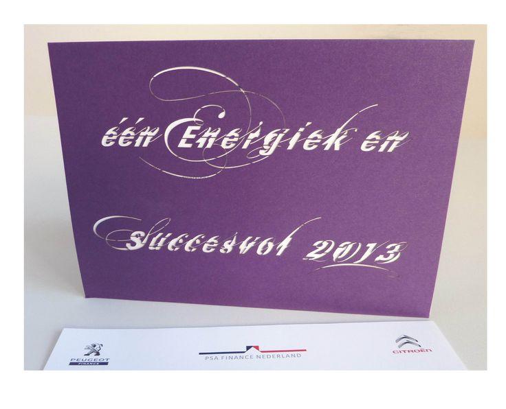 Typografisch ontwerp voor PSA FINANCE Nieuwjaarskaart 2013 by #StudioHeleneBergmans