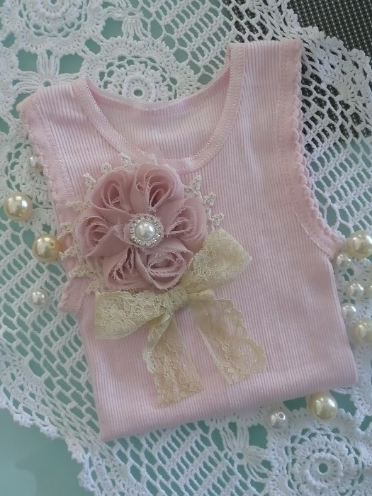 Sweet Vintage Singlet - Pink Sizes 000 - 2