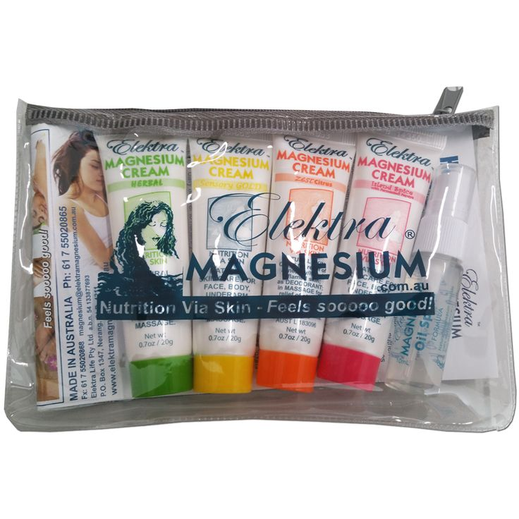 Great Christmas stocking filler gift... Elektra Magnesium sampler pack in handy reusable cosmetic bag.
