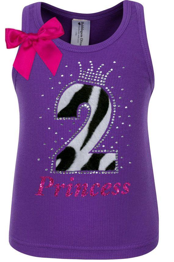 2nd Birthday Purple Zebra Tutu Dress Second Birthday Outfit