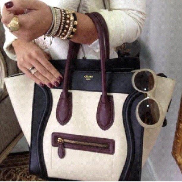 Dream Closet: Celine Phantom Bag in Burgundy/White/Black/Cream ...