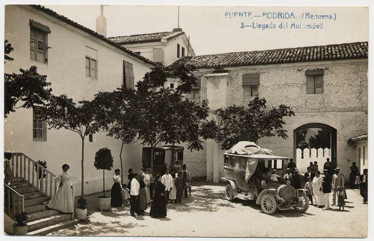 Llegada del Automóvil : Fuente Podrida (Requena) (s.a.) - Fabert, Andrés