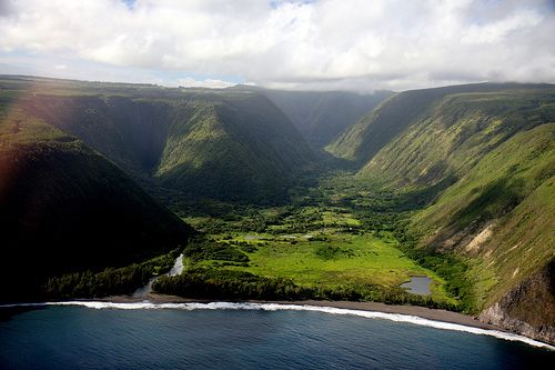 Waipio Valley, Big Island Accessed by Horseback, Kayak, Mule-drawn wagon, or hiking. Best views from the Muliwai Trail.