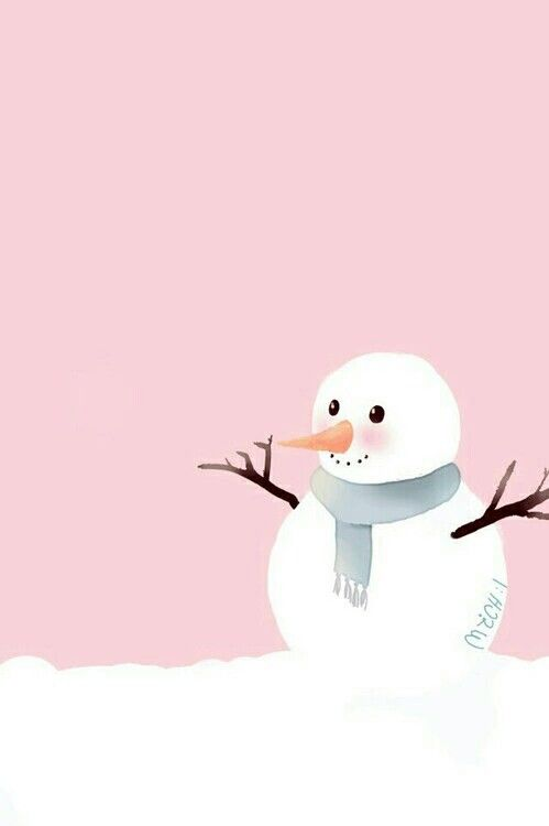 Snowman wallpaper background