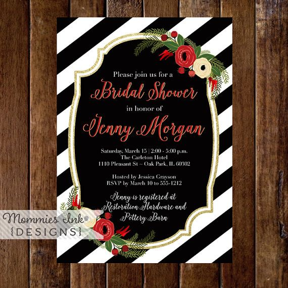 Bridal Shower Invitation Winter Bridal Shower by MommiesInk