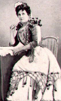 The Australian operatic soprano Nellie Melba as Rosina in Rossini's The Barber of Seville. This photo was taken around 1920.