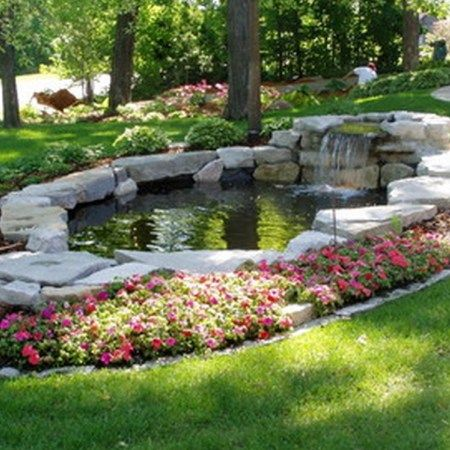 Garden pond waterfall (4)