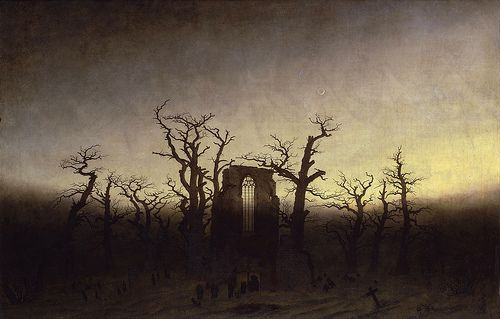 Caspar David Freidrich - Abbey Among Oak Trees [c.1809]