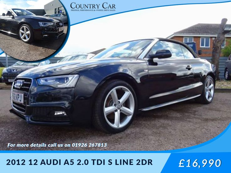 £16,990 | 2012 12 #AUDI A5 2.0 TDI S LINE 2DR #used audi #find used cars #second hand car uk Visit Us - www.countrycar.co.uk - Call Us On - 01926 267813 / 07441 906677