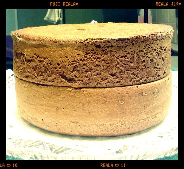 ok...ora le due Moretta fanno una mega torta di San Valentino... 11 cm di altezza...