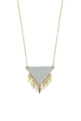 Glitter Triangle Necklace - Necklaces - Jewellery - Bags & Accessories